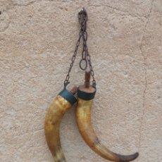 Antigüedades: CUERNAS DE ARRIEROS.. Lote 270389918