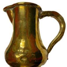 Antigüedades: ANTIGUA JARRA DE COBRE BAÑADA EN DORADO. SIGLO XIX: 20X19X13. Lote 270390448