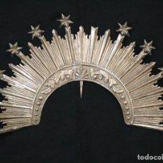 Antigüedades: CORONA DE TAMAÑO NATURAL, ELABORADA EN METAL PLATEADO. PPS. S. XX.. Lote 270397318