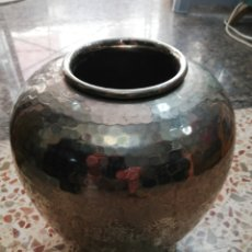 Antigüedades: MACETERO DE METAL PLATEADO. Lote 270555673