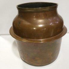 Antigüedades: JARRÓN RECIPIENTE DE COBRE. Lote 270558268
