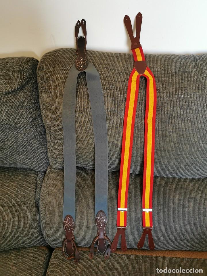 Antigüedades: Sombrero de ala ancha El Bombo de osuna y 2 tirantes de botones Manuel Acosta de Morón. - Foto 11 - 270567068