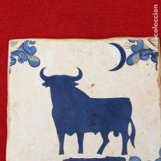 Antigüedades: AZULEJO CERAMICO DE COLECCION, PINTADO Y VIDRIADO.. Lote 270573698