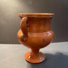 Antigüedades: CERÀMICA POPULAR CATALANA - ANTIGUA JARRA CON DOS ASAS PROBABLEMENTE LA BISBAL. Lote 270609833