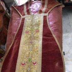 Antigüedades: MAGNIFICA CASULLA BORDADA. Lote 270639718
