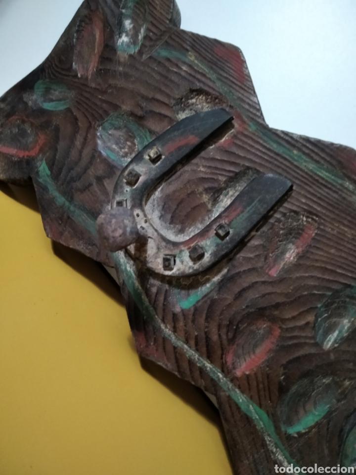 Antigüedades: ANTIGUA PERCHA DE MADERA. - Foto 3 - 270652003