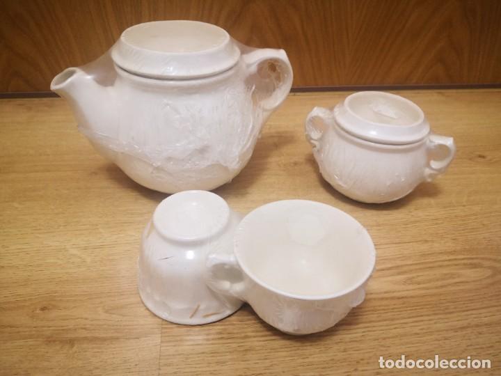 JUEGO TÉ SAN CLAUDIO SIN ESTRENAR (Antigüedades - Porcelanas y Cerámicas - San Claudio)