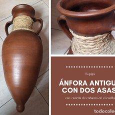 Antigüedades: ÁNFORA ANTIGUA CON DOS ASAS. Lote 270693003