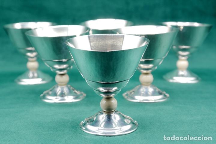 Antigüedades: Copas de plata de ley - Foto 2 - 270747758