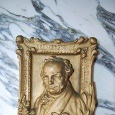 Antigüedades: FIGURA DE YESO O ESCAYOLA - F. DE GOYA - OBSEQUIO DE JULES GERZON - RECLAMOS - PUBLICIDAD - 1928. Lote 270869633