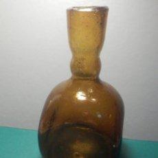 Antiquités: PRECIOSO Y MUY ANTIGUO FRASCO CRISTAL MARRÓN - VIDRIO SOPLADO -. Lote 270886358