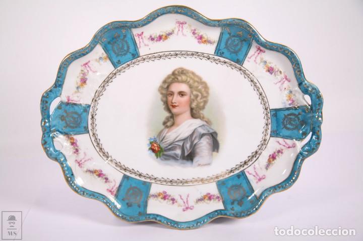 Antigüedades: Juego de Cafe Porcelana China Tu y Yo - Emperador Napoleon - Prov Sxe Alemania Principios Siglo XX - Foto 2 - 270887573