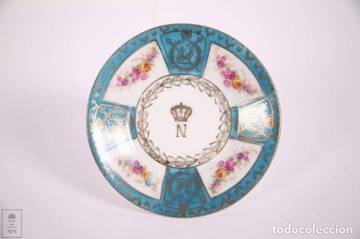 Antigüedades: Juego de Cafe Porcelana China Tu y Yo - Emperador Napoleon - Prov Sxe Alemania Principios Siglo XX - Foto 5 - 270887573
