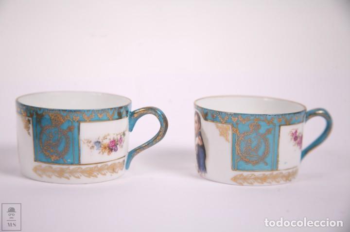 Antigüedades: Juego de Cafe Porcelana China Tu y Yo - Emperador Napoleon - Prov Sxe Alemania Principios Siglo XX - Foto 7 - 270887573