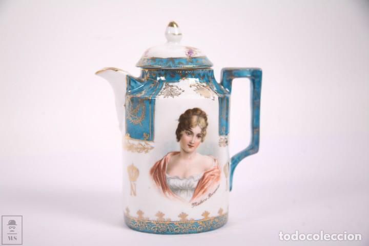 Antigüedades: Juego de Cafe Porcelana China Tu y Yo - Emperador Napoleon - Prov Sxe Alemania Principios Siglo XX - Foto 8 - 270887573