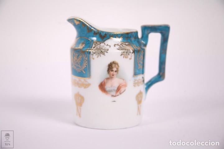 Antigüedades: Juego de Cafe Porcelana China Tu y Yo - Emperador Napoleon - Prov Sxe Alemania Principios Siglo XX - Foto 10 - 270887573
