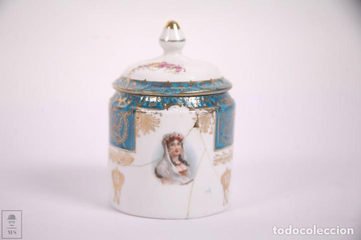 Antigüedades: Juego de Cafe Porcelana China Tu y Yo - Emperador Napoleon - Prov Sxe Alemania Principios Siglo XX - Foto 12 - 270887573