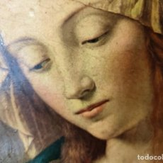 Antigüedades: ANTIGUO Y PRECIOSO CUADRO EN TABLA DE MADERA DE IMAGEN RELIGIOSA. Lote 270899853