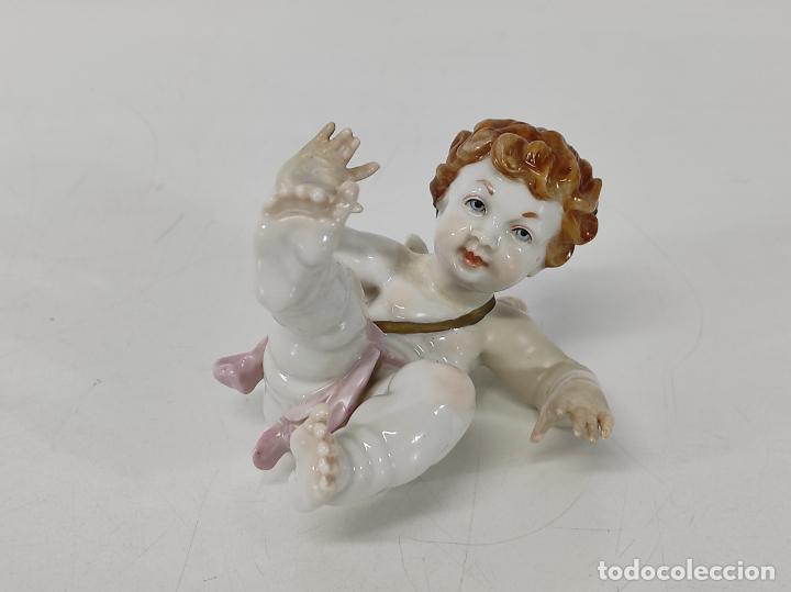 PRECIOSO ÁNGEL QUERUBÍN - ANGELITO PORCELANA ALGORA (Antigüedades - Porcelanas y Cerámicas - Algora)