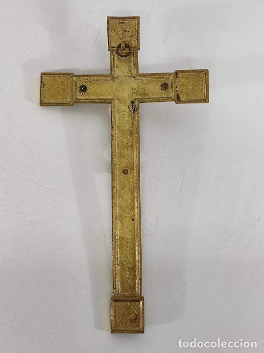 Antigüedades: Crucifijo, Cristo a la Cruz - Majestad - Bronce Cincelado - Principios S. XX - Foto 13 - 270911268