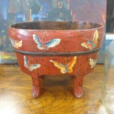 Antigüedades: JARDINERA MONGOLIA PINTADA A MANO. Lote 270922008