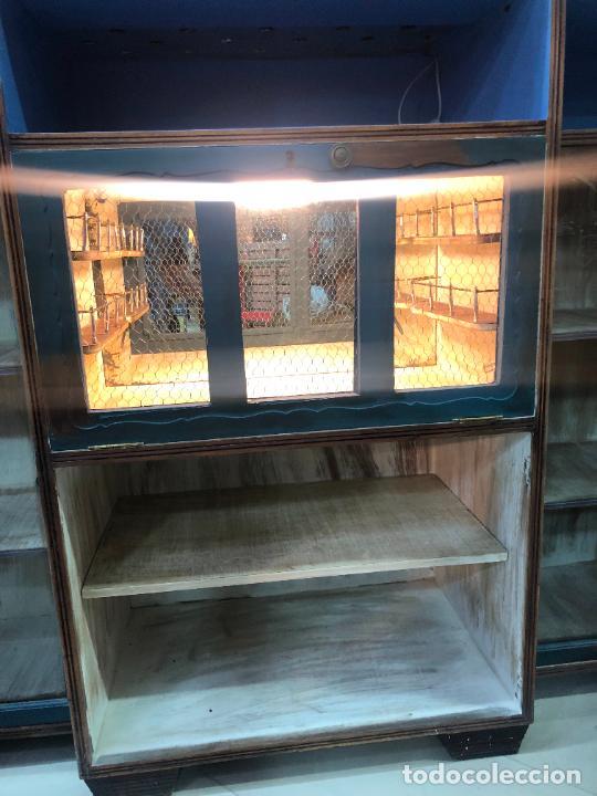 Antigüedades: ANTIGUO MUEBLE BAR BIBLIOTECA - MEDIDA 178X160X47 CM - Foto 28 - 270922663