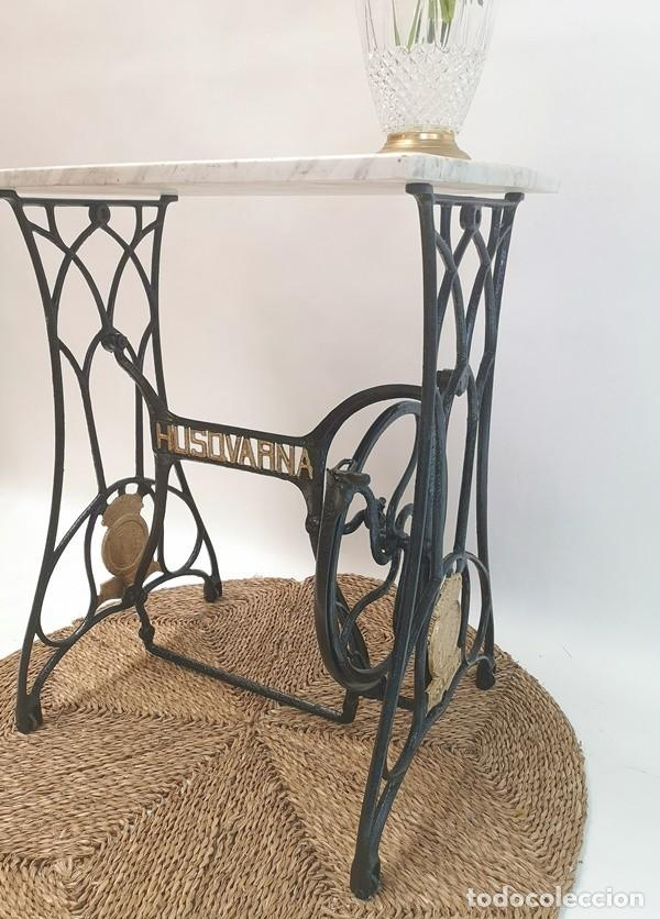 Antigüedades: Mesa Pie de Maquina de Coser - Foto 4 - 270931113