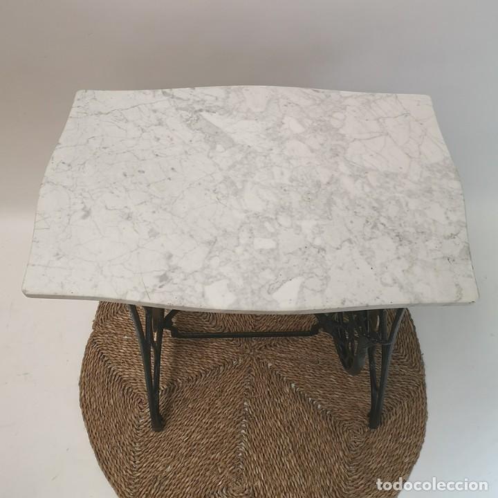 Antigüedades: Mesa Pie de Maquina de Coser - Foto 7 - 270931113