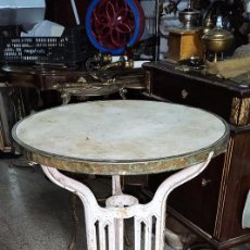 Antiquités: MAGNIFICA MESA VELADOR MODERNISTA ,DE BAR, PARA JARDÍN O TERRAZA. Lote 270937013