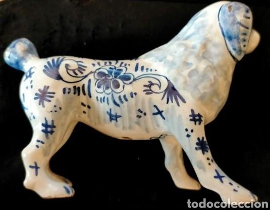 Antigüedades: Figura Perro porcelana Delft (Holanda) siglo XIX - Foto 2 - 270955958