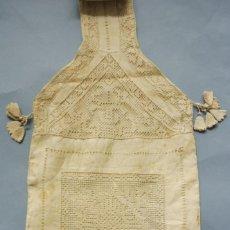 Antigüedades: ANTIGUO BOLSO BALDOLERA DE ENCAJE LINO Y SEDA S.XIX. Lote 270964798