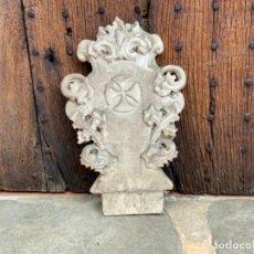 Antigüedades: PORTICO O DOSEL EN ESTUCO PARA TRONO DE SAGRADO CORAZON O DORSO IMAGEN RELIGIOSA. OLOT. Lote 271009618