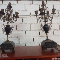 Antigüedades: ANTIGUA PAREJA PORTAVELAS FRANCESES S XIX. Lote 271021738