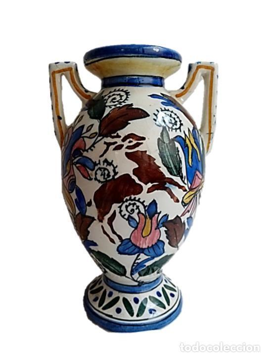 CERÁMICA DE TALAVERA, PRECIOSO JARRÓN S XIX (Antigüedades - Porcelanas y Cerámicas - Talavera)