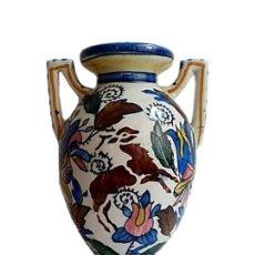 Antigüedades: CERÁMICA DE TALAVERA, PRECIOSO JARRÓN S XIX. Lote 271079768
