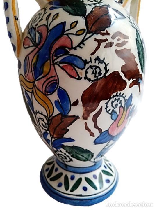 Antigüedades: CERÁMICA DE TALAVERA, PRECIOSO JARRÓN S XIX - Foto 3 - 271079768