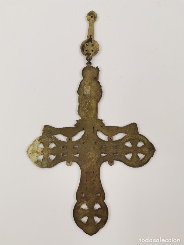 Antigüedades: CRUZ DE BRONCE ESMALTADA, GRECIA. MEDIADOS S.XX. - Foto 6 - 271091253