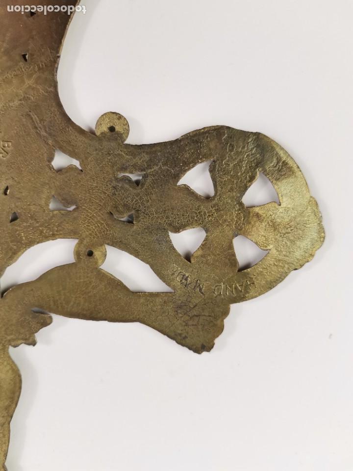 Antigüedades: CRUZ DE BRONCE ESMALTADA, GRECIA. MEDIADOS S.XX. - Foto 8 - 271091253