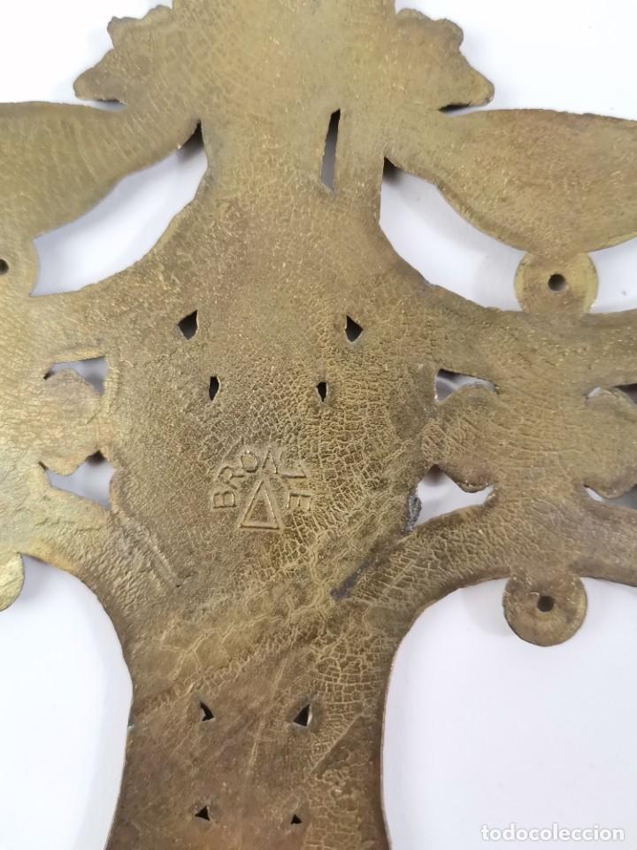 Antigüedades: CRUZ DE BRONCE ESMALTADA, GRECIA. MEDIADOS S.XX. - Foto 9 - 271091253