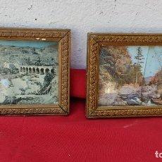 Antigüedades: PAREJAS DE MARCOS DORADOS. Lote 271143343