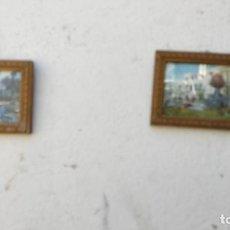 Antigüedades: PAREJAS DE MARCOS DORADOS. Lote 271144058