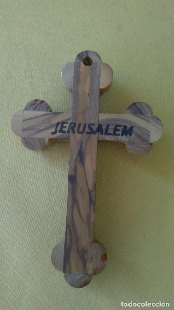 Antigüedades: CRUZ / CRUCIFIJO RELICARIO DE JERUSALEM - Foto 8 - 271150353