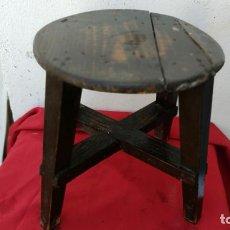 Antigüedades: PEQUEÑA BANQUETA REDONDA. Lote 271224603