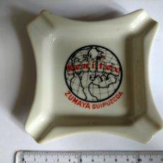 Antigüedades: CENICERO PUBLICIDAD DE KENITEX ZUMAYA GIPUZCOA. Lote 271427768