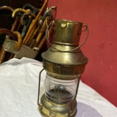 Oggetti Antichi: LAMPARA DE DECORATIVA DISEÑO NAVAL CRISTAL BOMBEADO EXCELENTE OBJETO DE DECORACIÓN. Lote 285608173