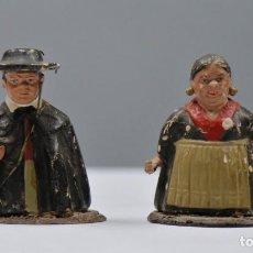Antigüedades: PAREJA DE TIPOS POPULARES DE TERRACOTA. AÑOS 20-30. Lote 271562628