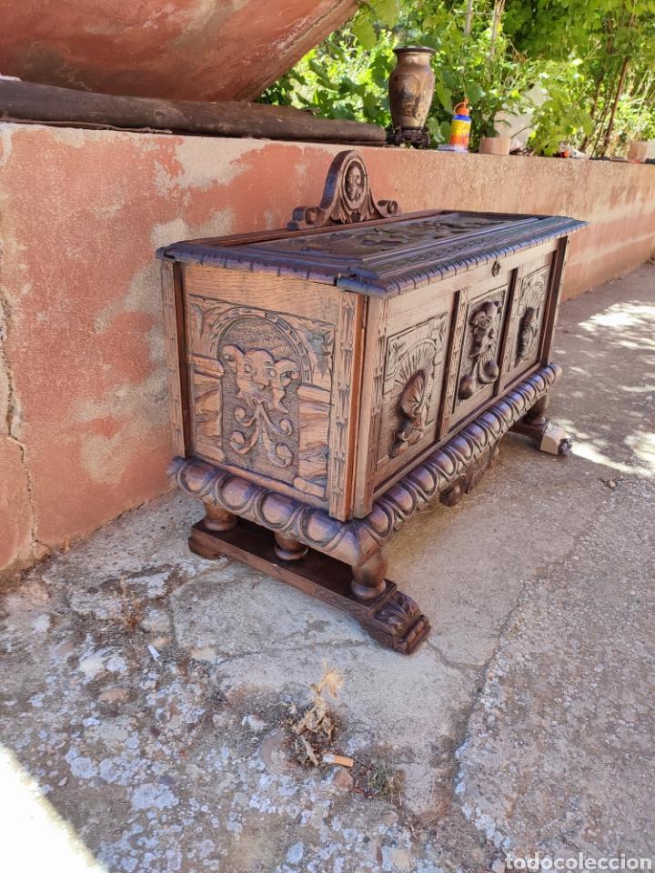 Antigüedades: Arca tallada - Foto 3 - 271598388
