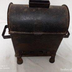 Antigüedades: ANTIGUO Y RARO BRASERO DE CHAPA. Lote 271697968