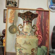 Antigüedades: GRAN JARRÓN ESTILO SATSUMA. DECORADO A MANO. CON CERTIFICADO. 81CM(SIN CONTAR PIE) CHINA. Lote 271866438