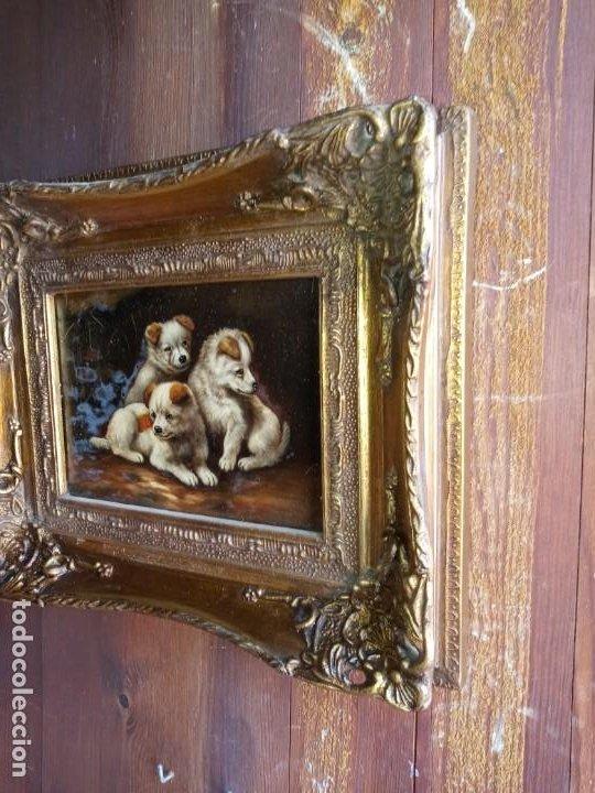 Antigüedades: CUADRO / MARCO - DOGGIES . - Foto 3 - 271918608
